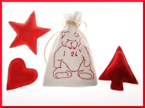Calendrier de l'avent collectif,ours,broderie